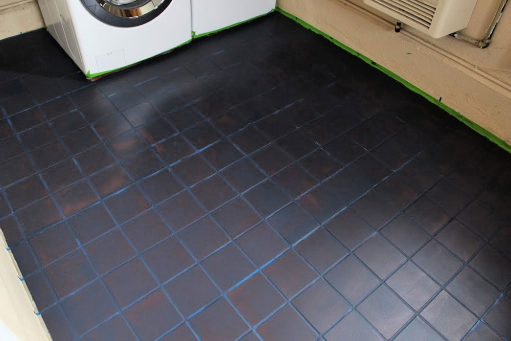 painted tile one coat