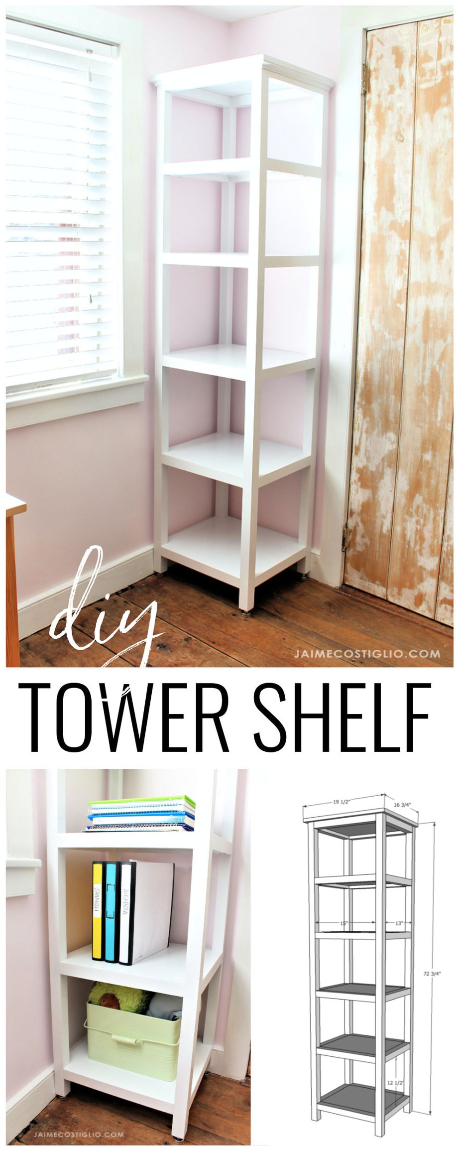 tower shelf free plans
