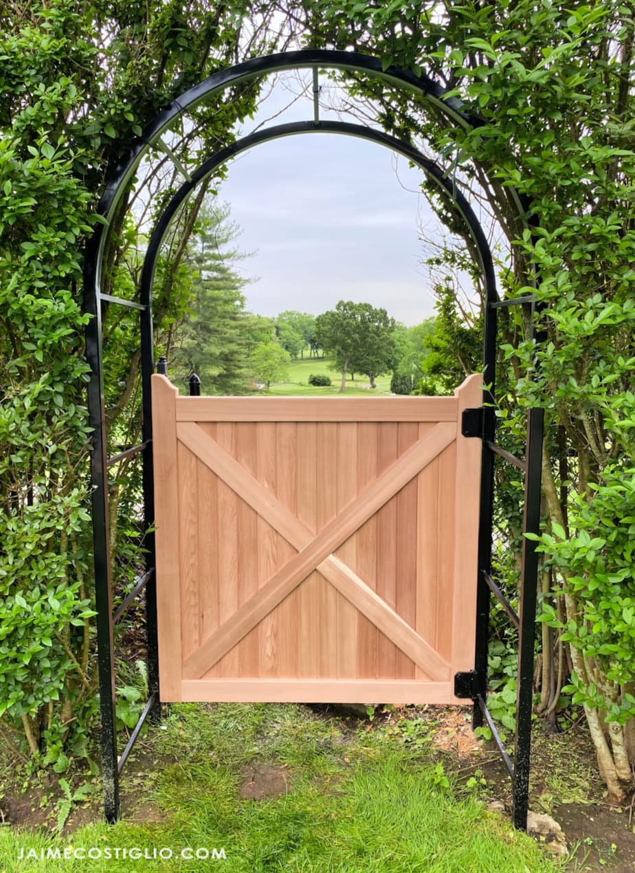 cedar tongue and groove gate