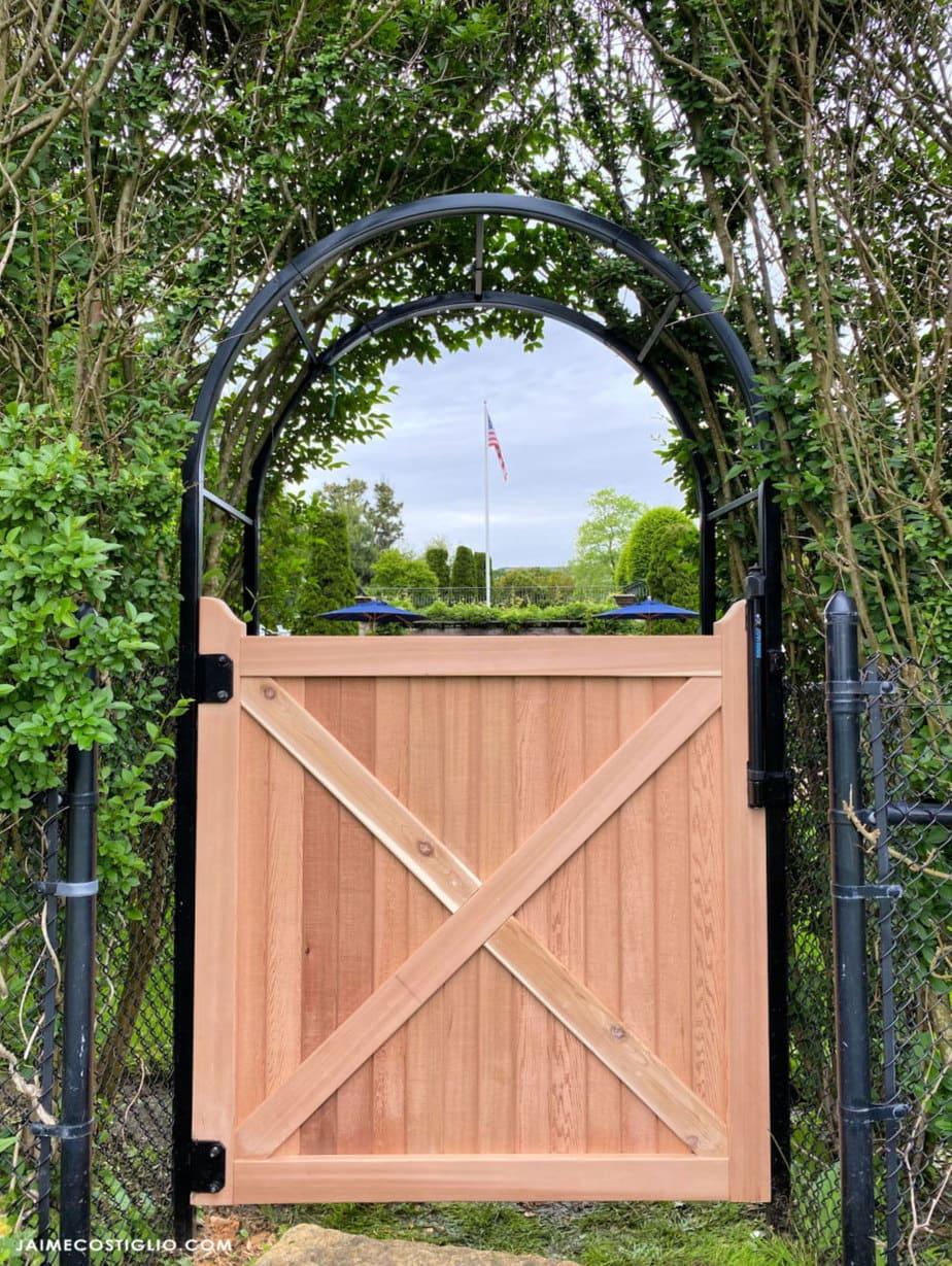 diy gate in structure