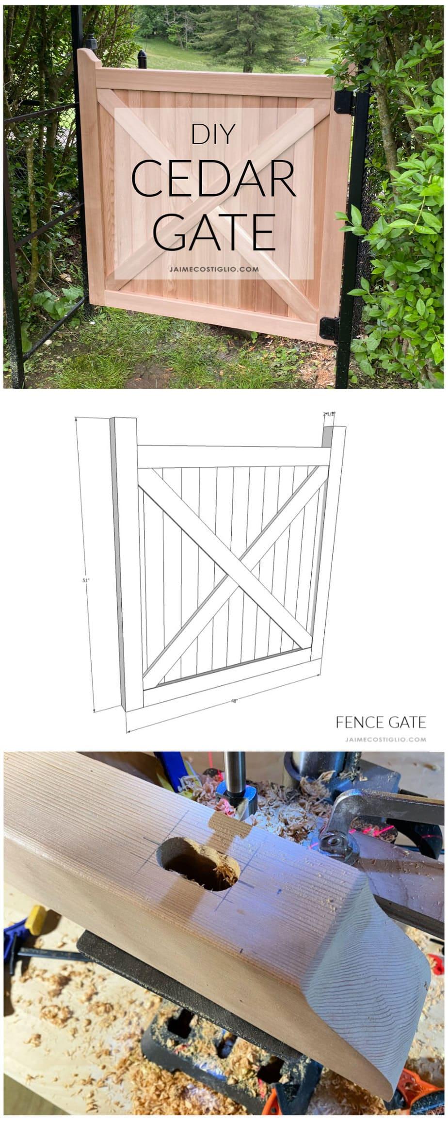 diy cedar gate