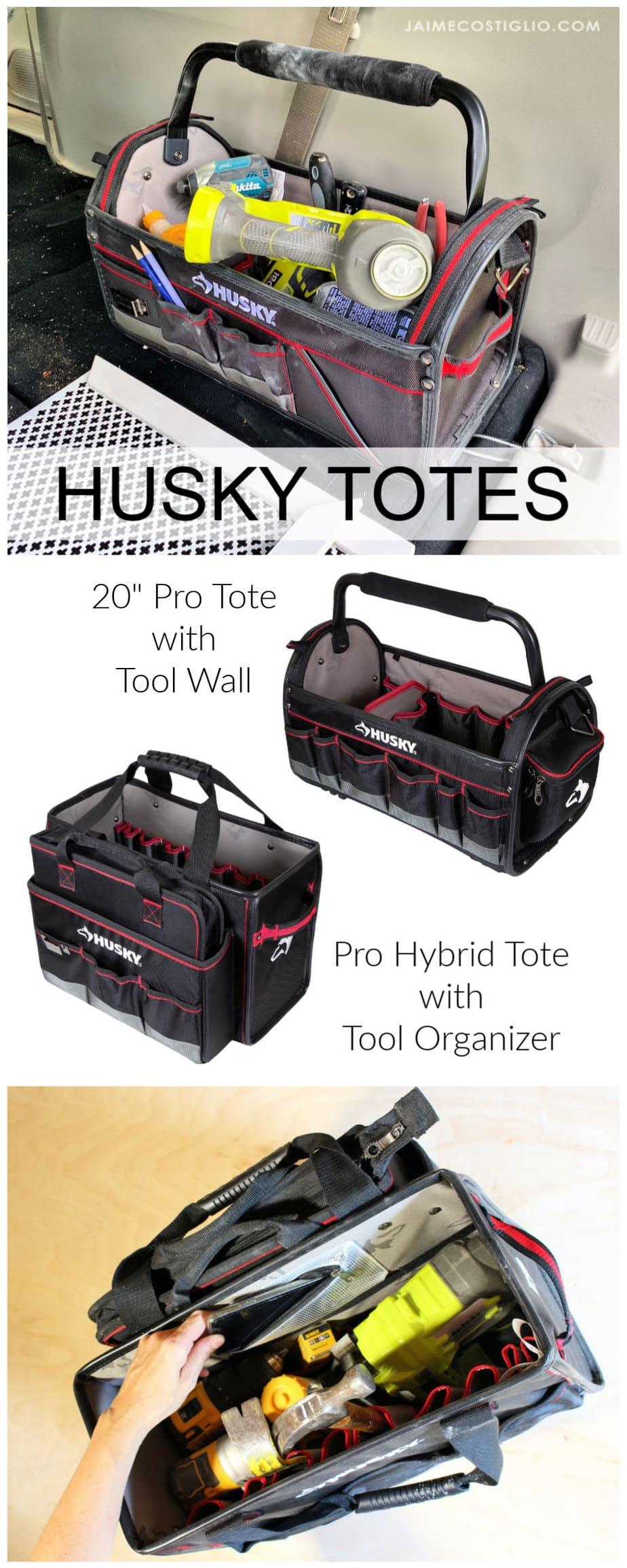 husky tool totes