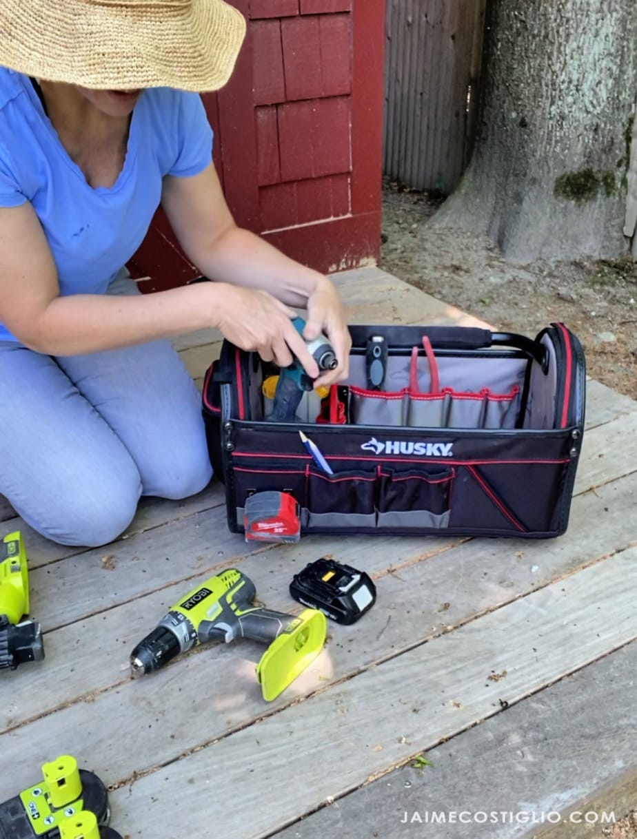 packing up tool tote