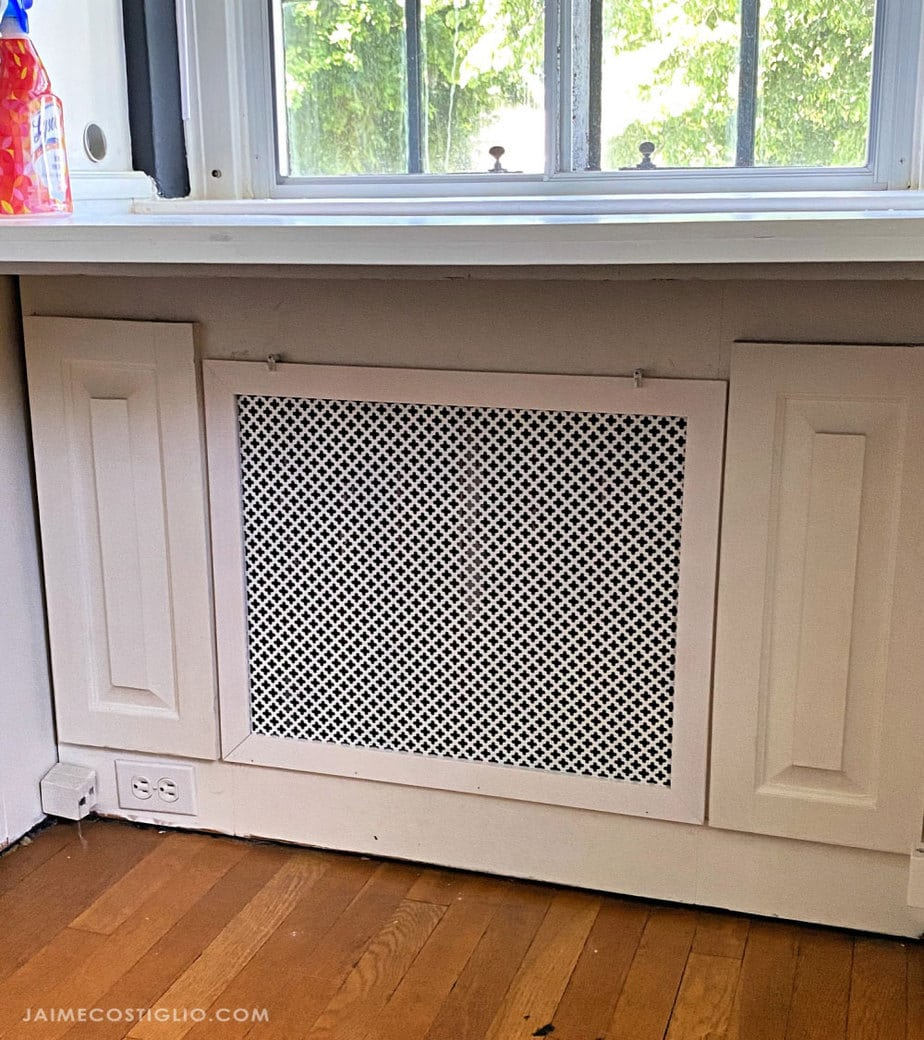 removable radiator cover