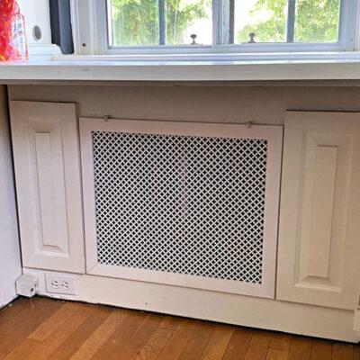 radiator cover under desk