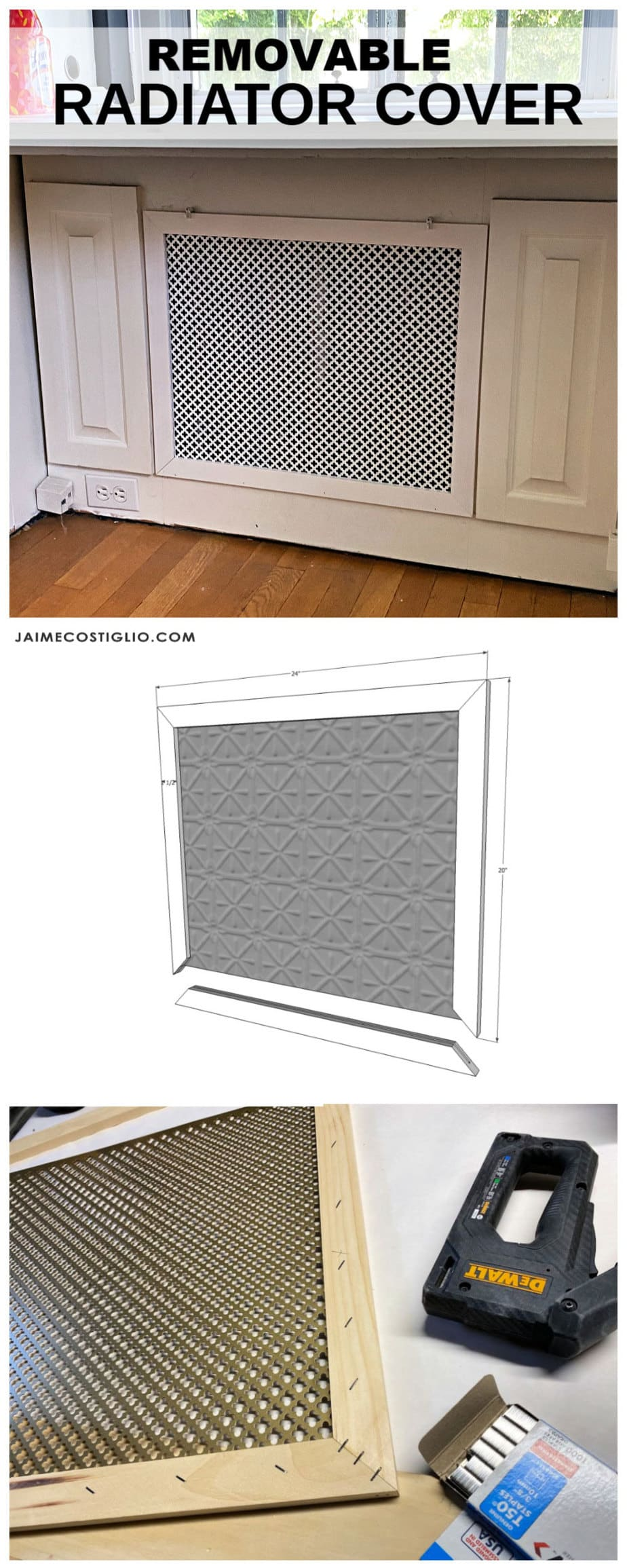 Diy removable radiator cover plans