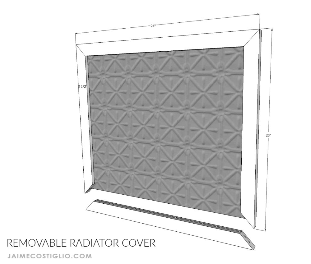 removable metal radiator cover
