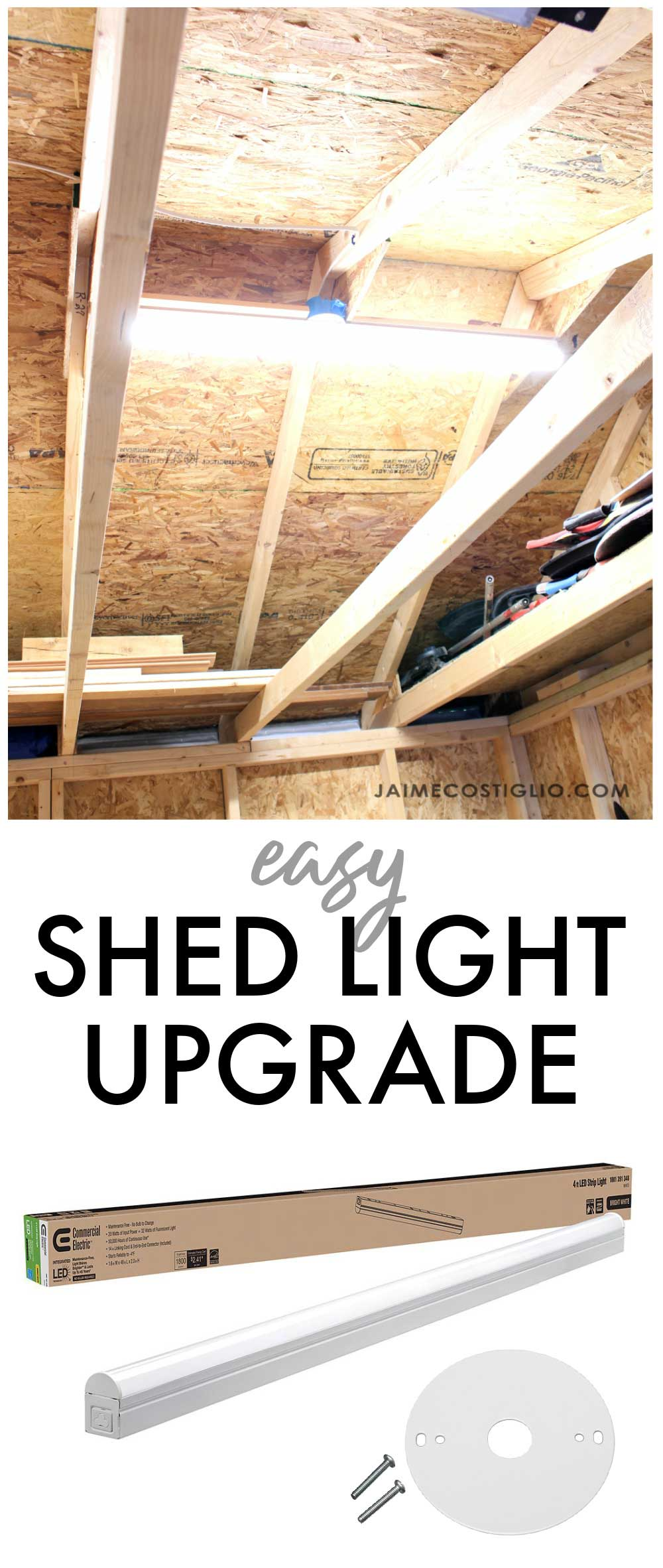 easy shed light upgrade