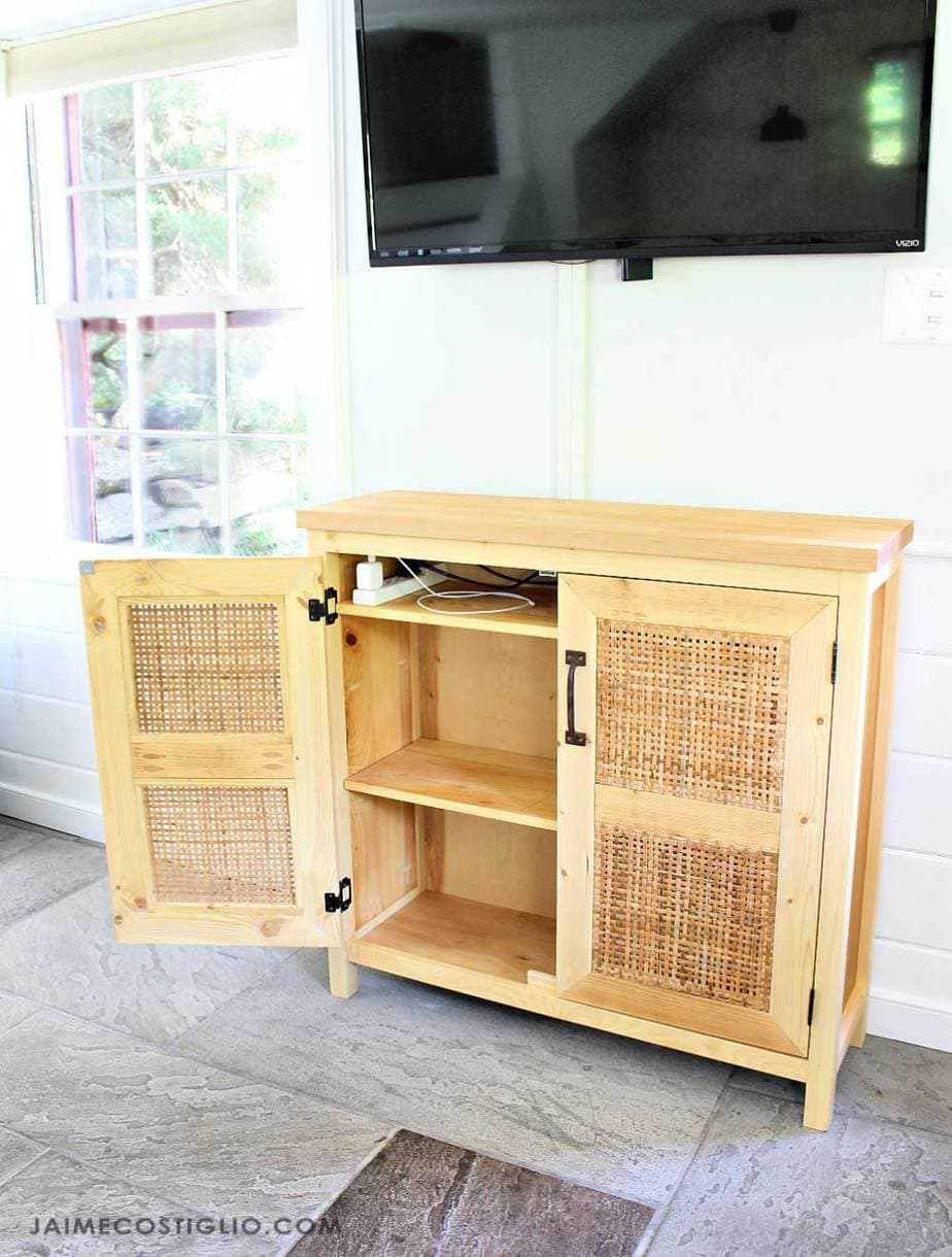 tv console with doors