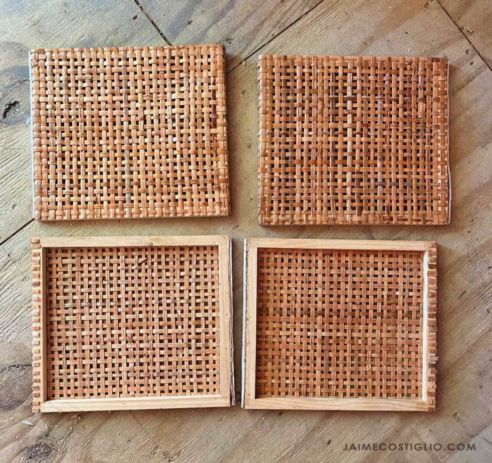 rattan basket side panels
