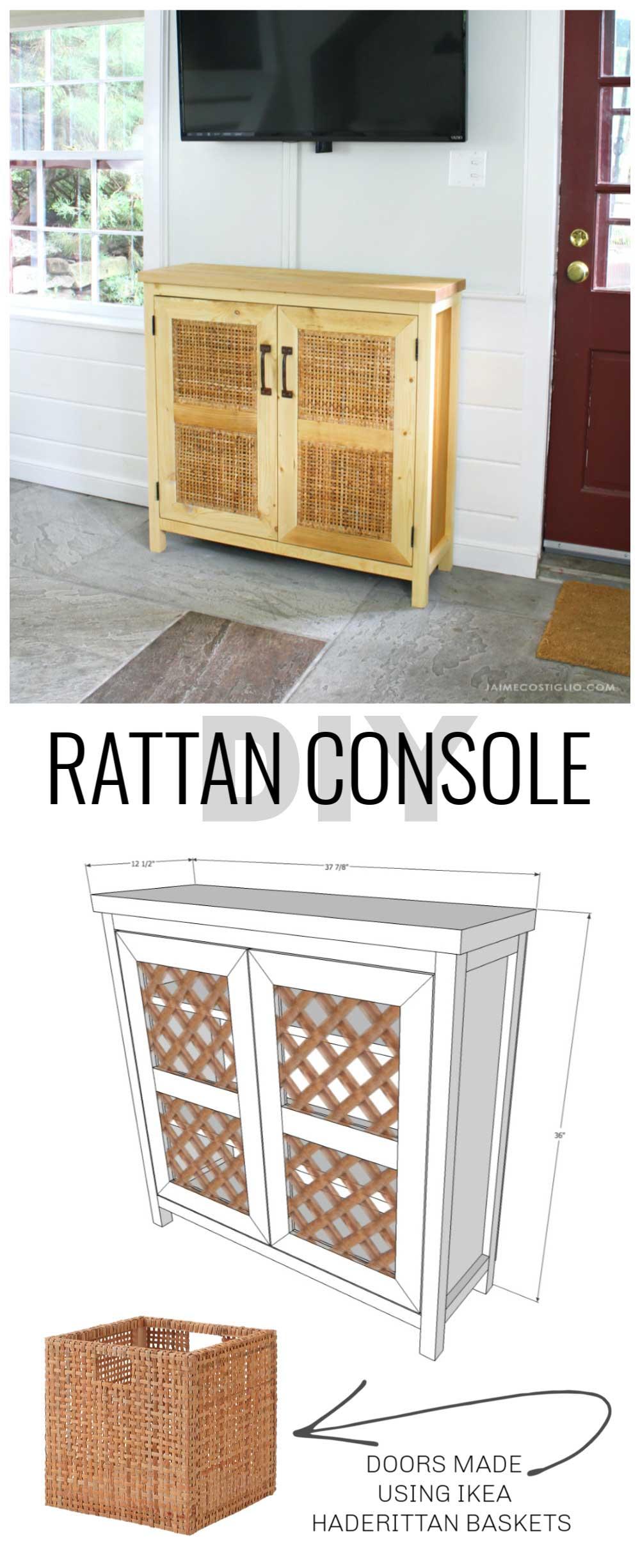 rattan console plans