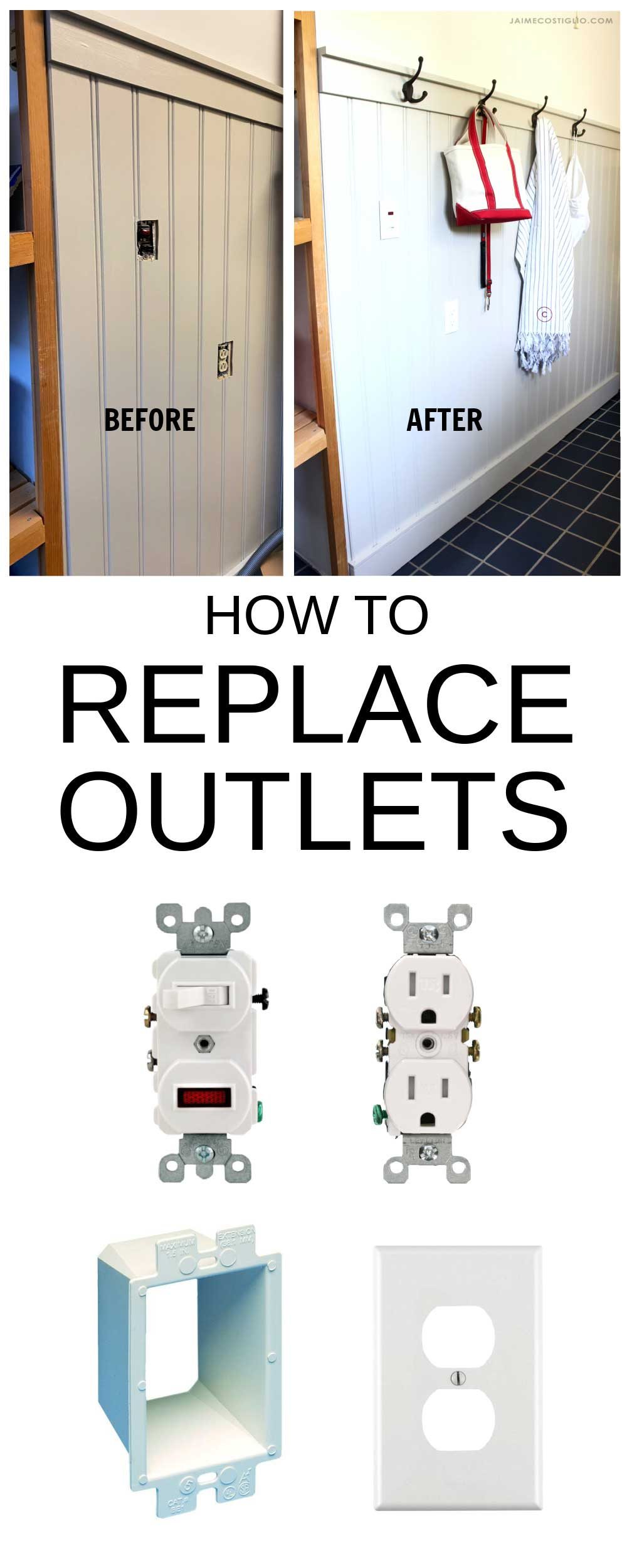 how to replace outlets