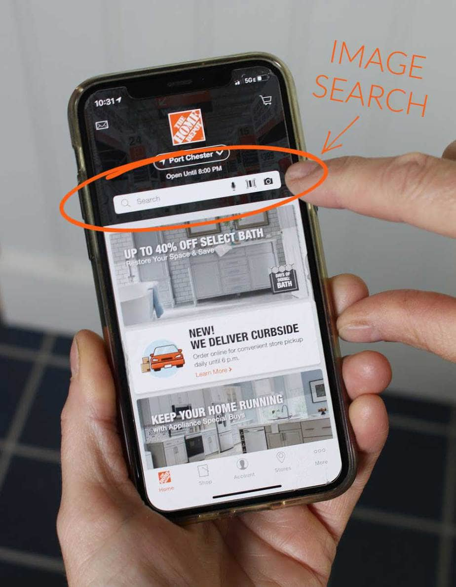 mobile app search bar