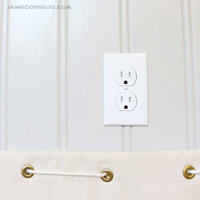 new outlets in laundry room