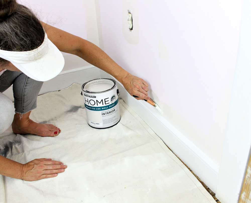 how to paint walls step one