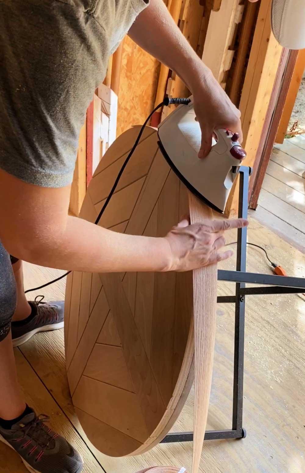attaching iron on edge banding