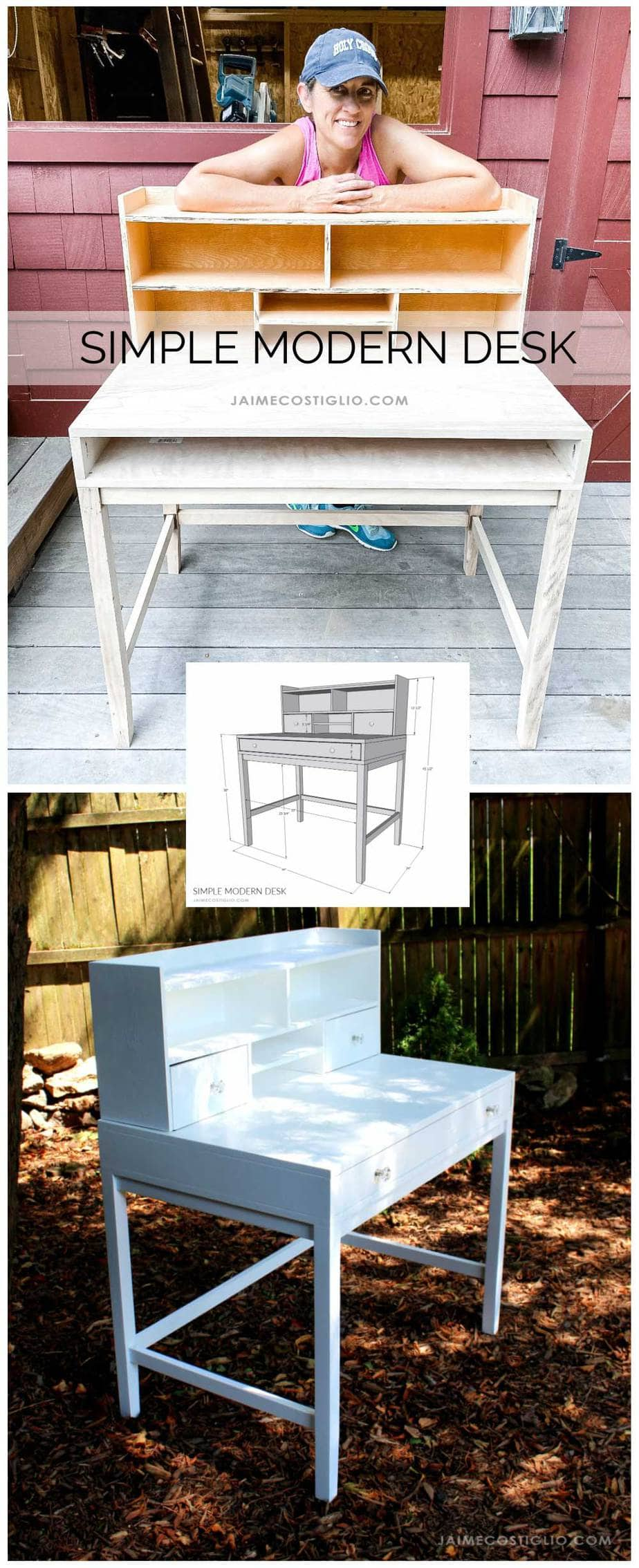 build a simple modern desk