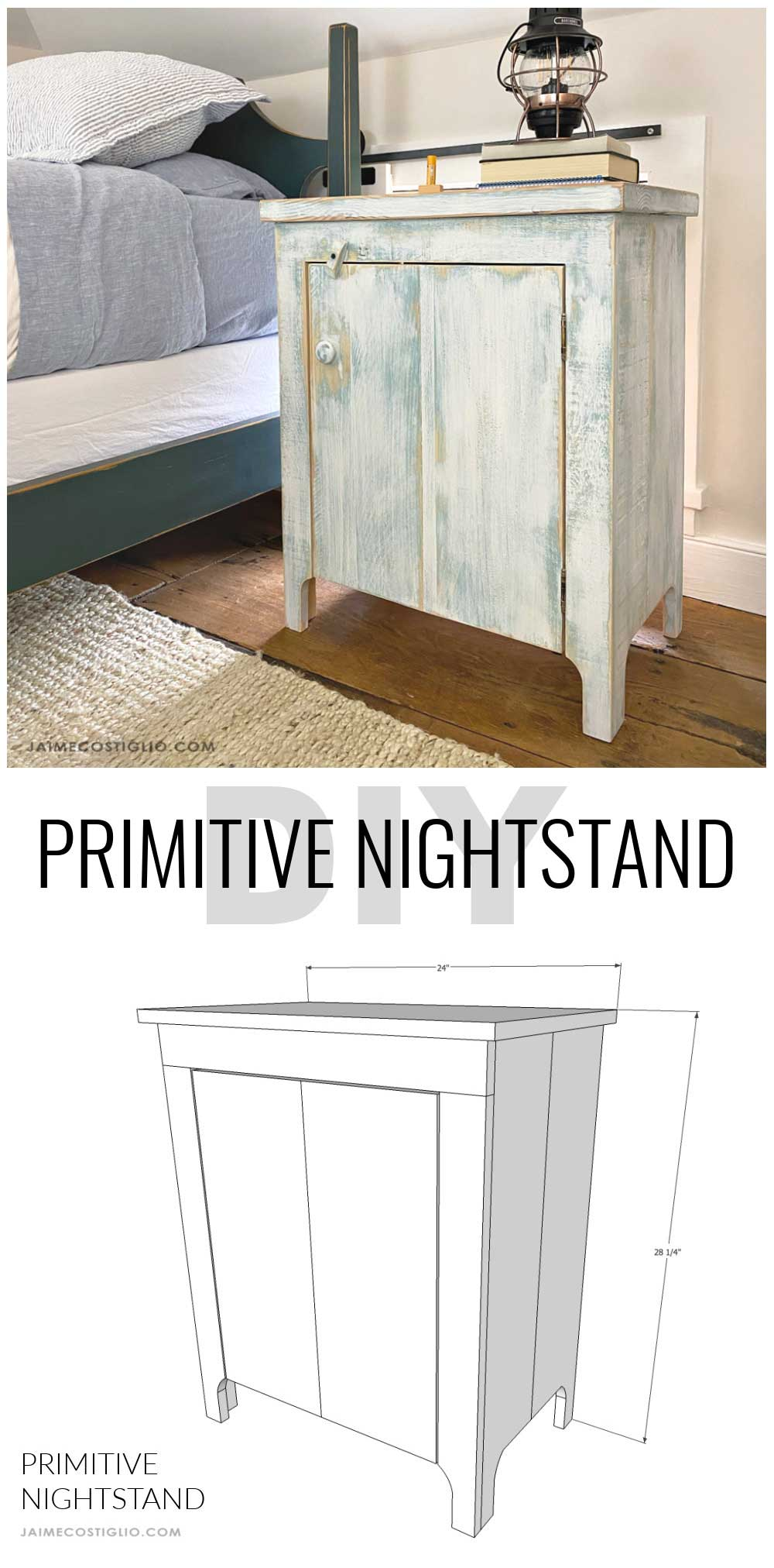 diy primitive nightstand