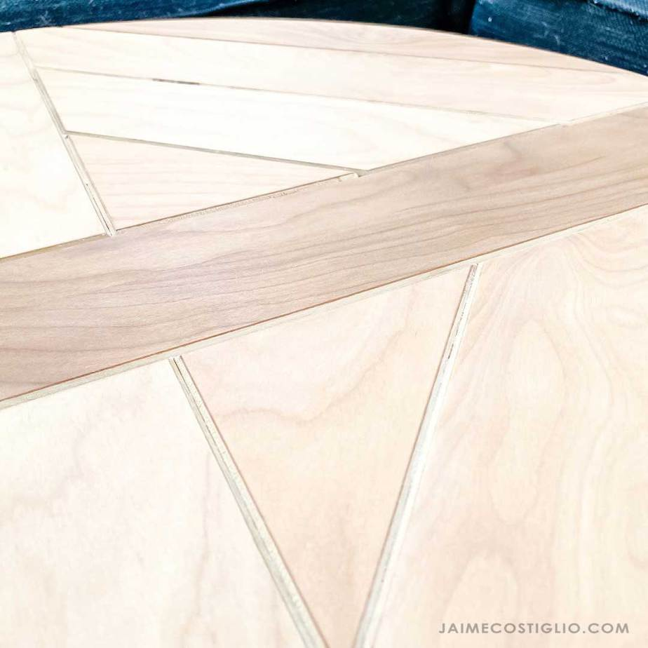 plywood chamfered edge