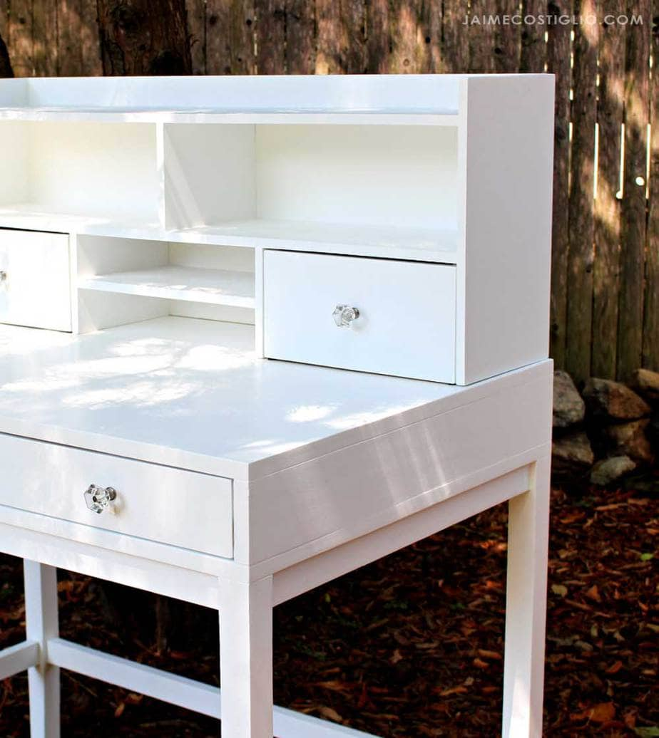 desk hutch with drawers and shelves