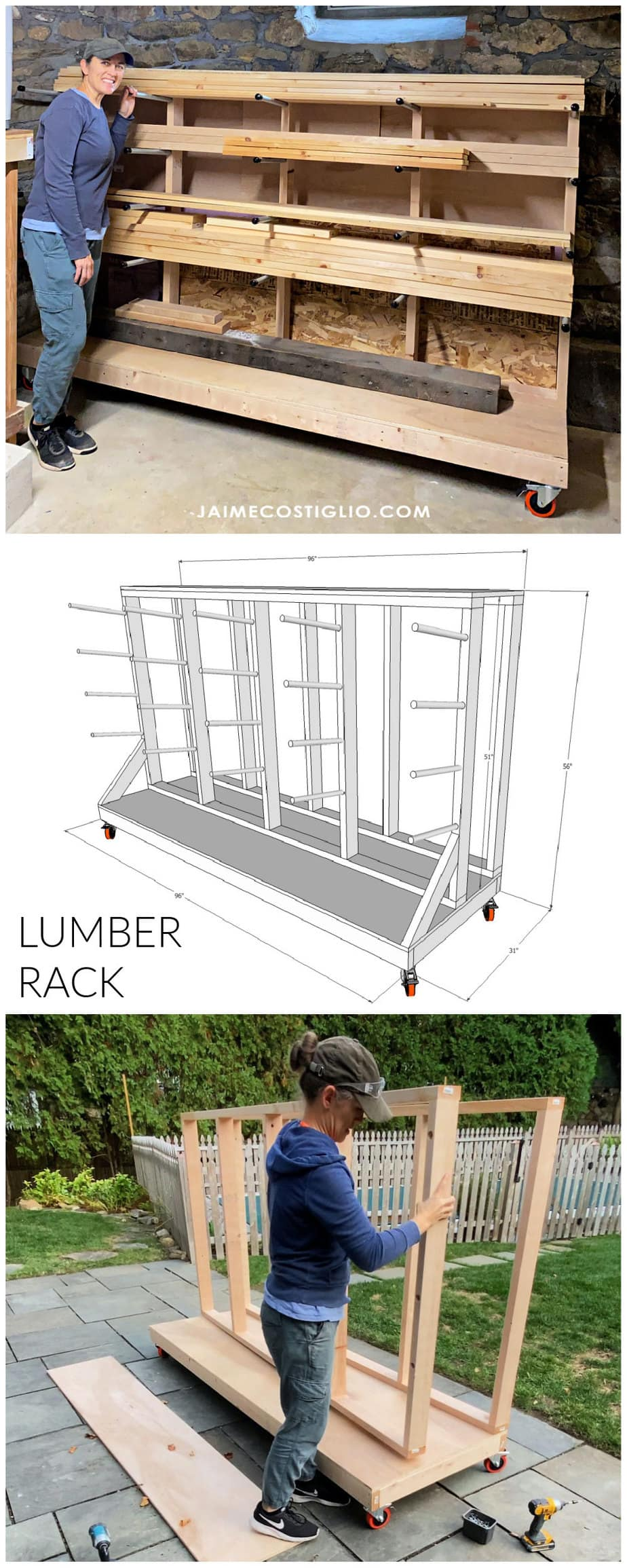 diy lumber rack