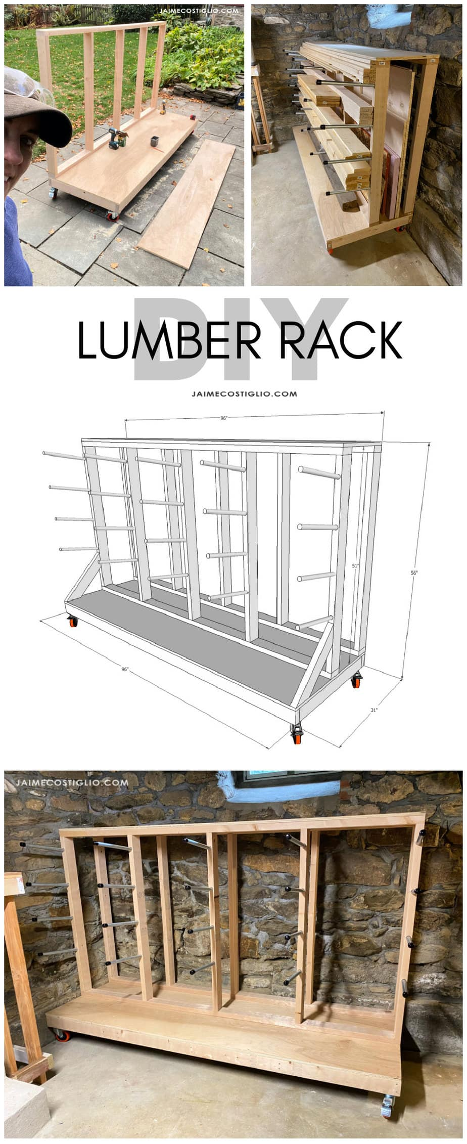 diy lumber storage rack plans