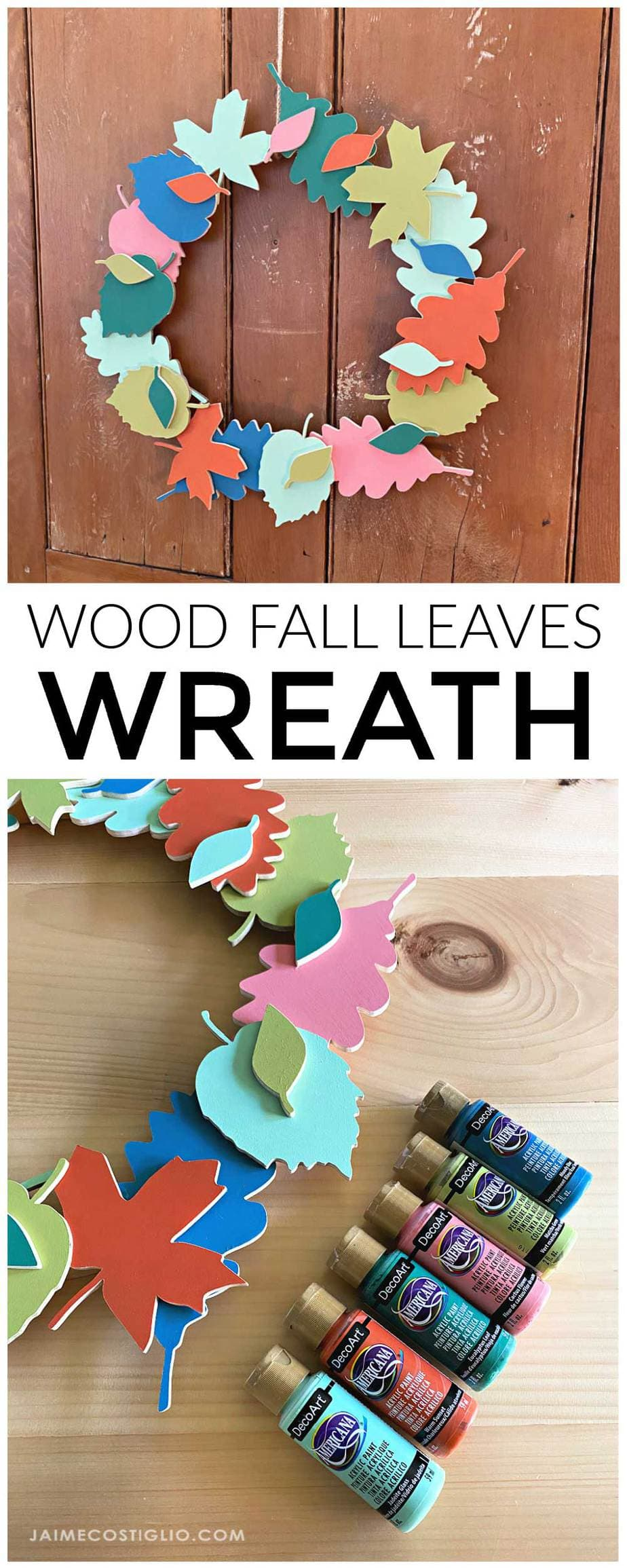 diy painted fall wreath