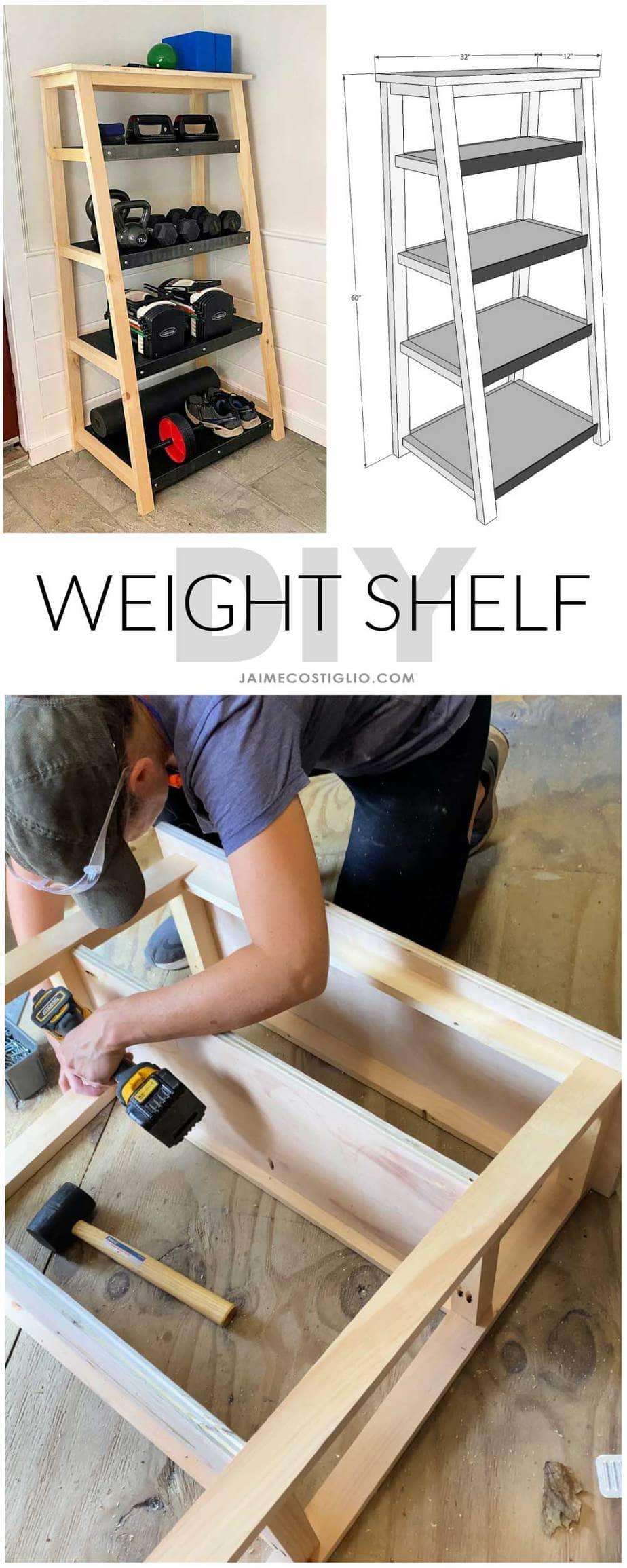 diy weight shelf