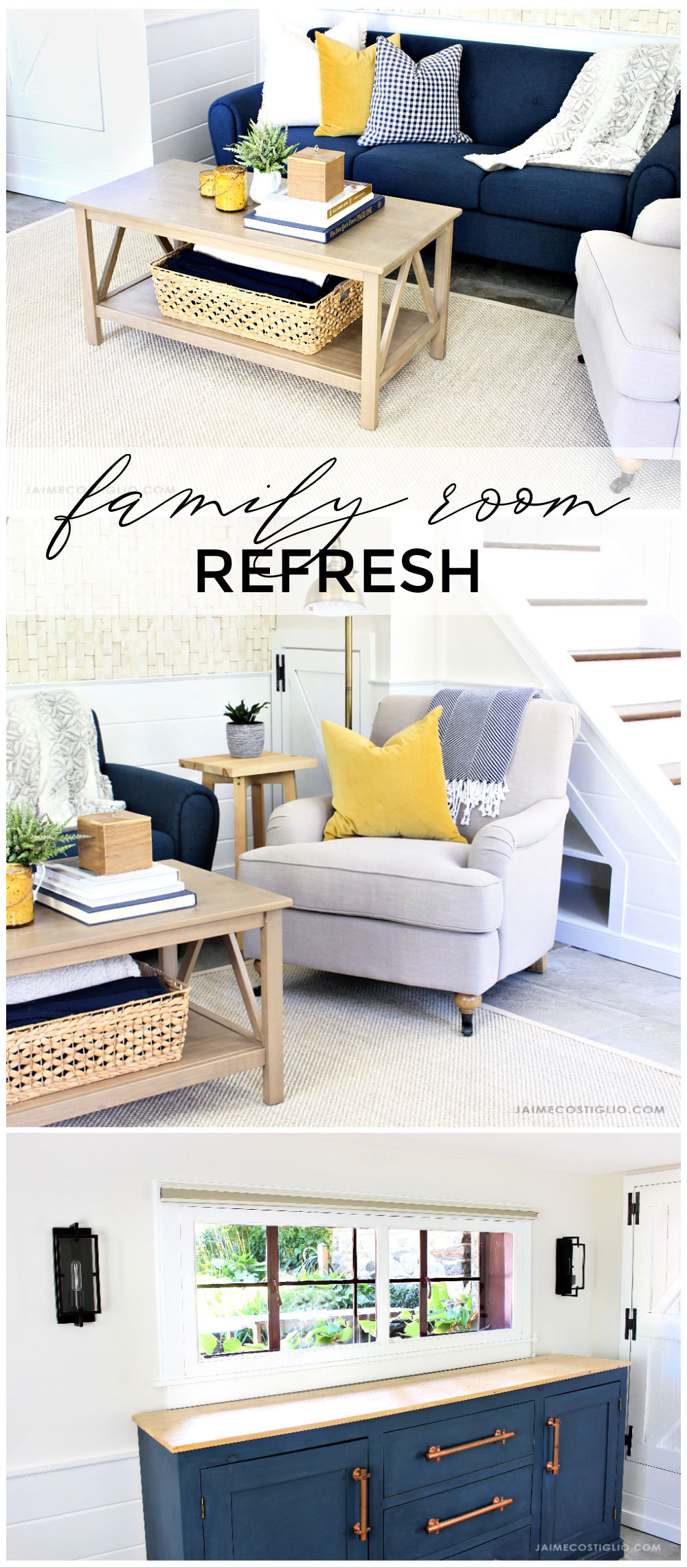 family room refresh project