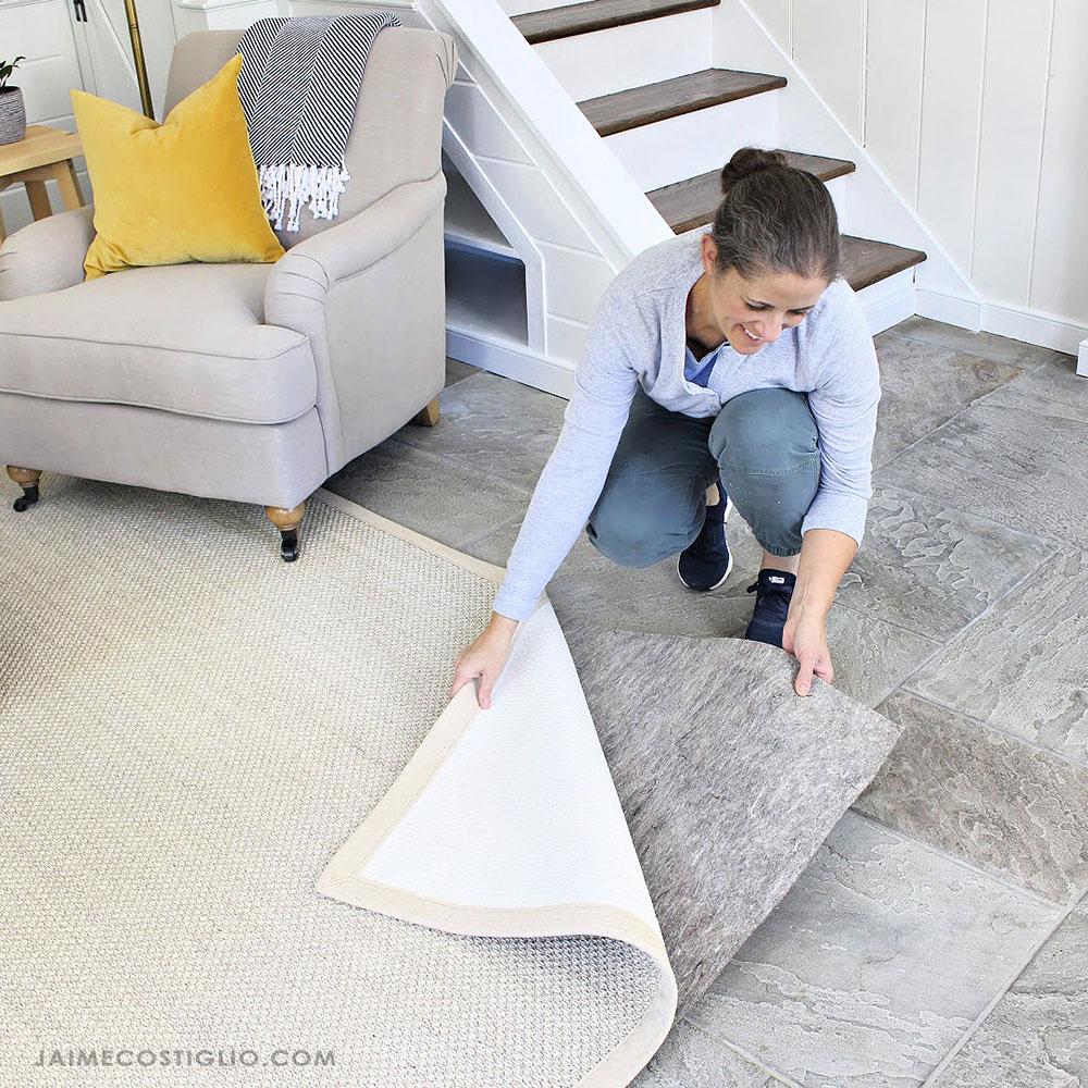 rug pad under area rug