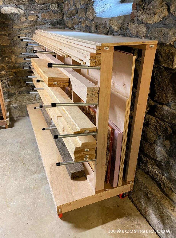 rolling lumber storage