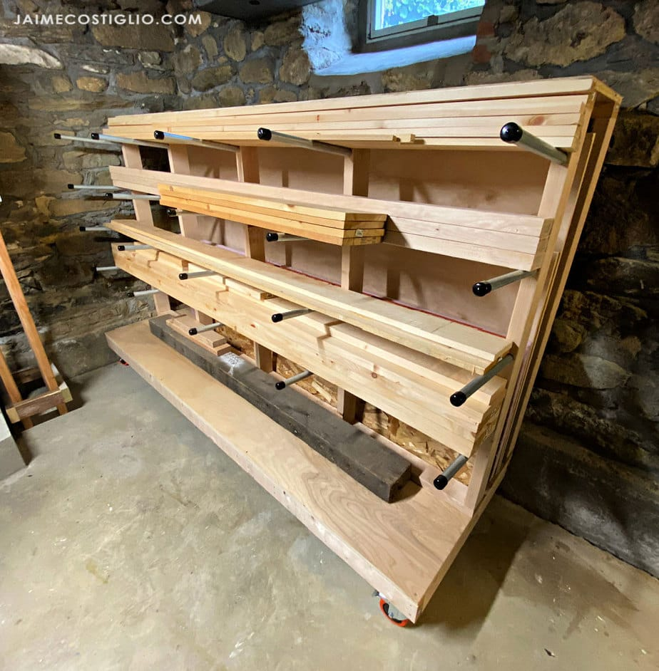 corner lumber storage