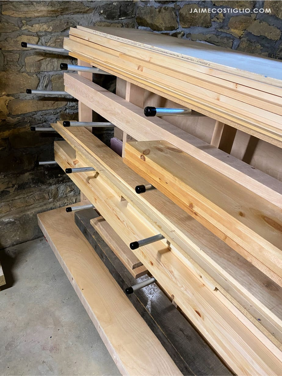 conduit lumber shelves