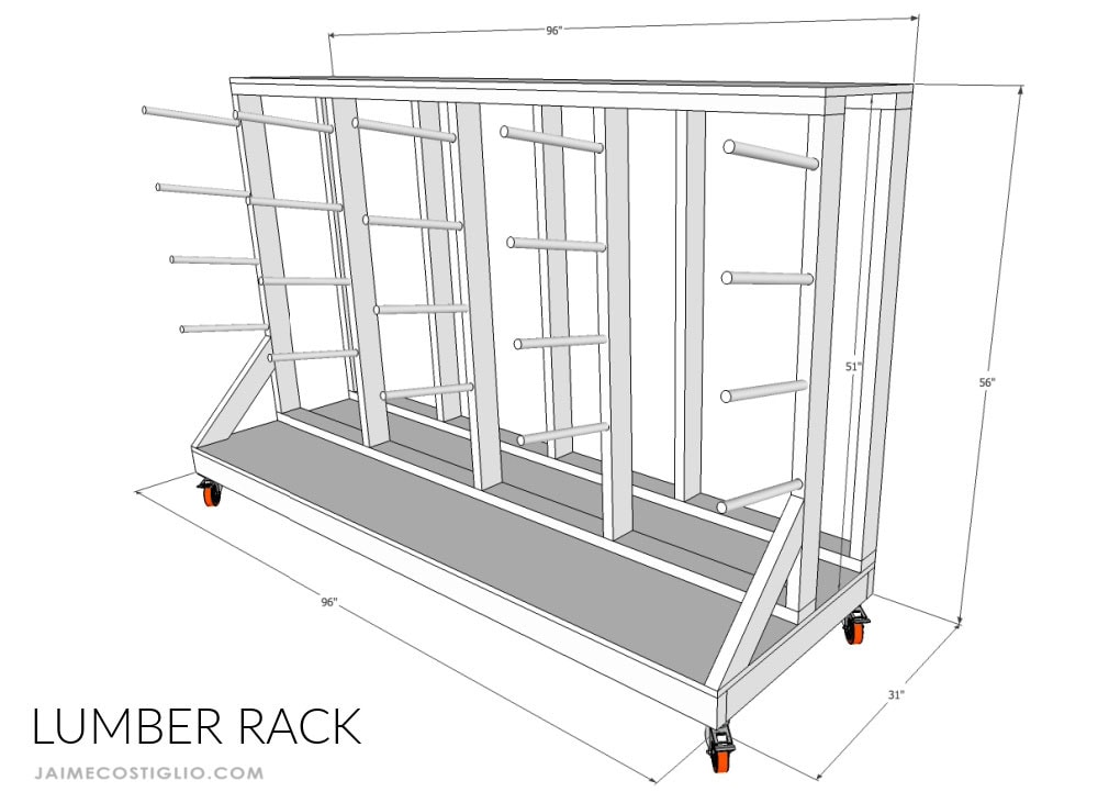 lumber rack dimensions