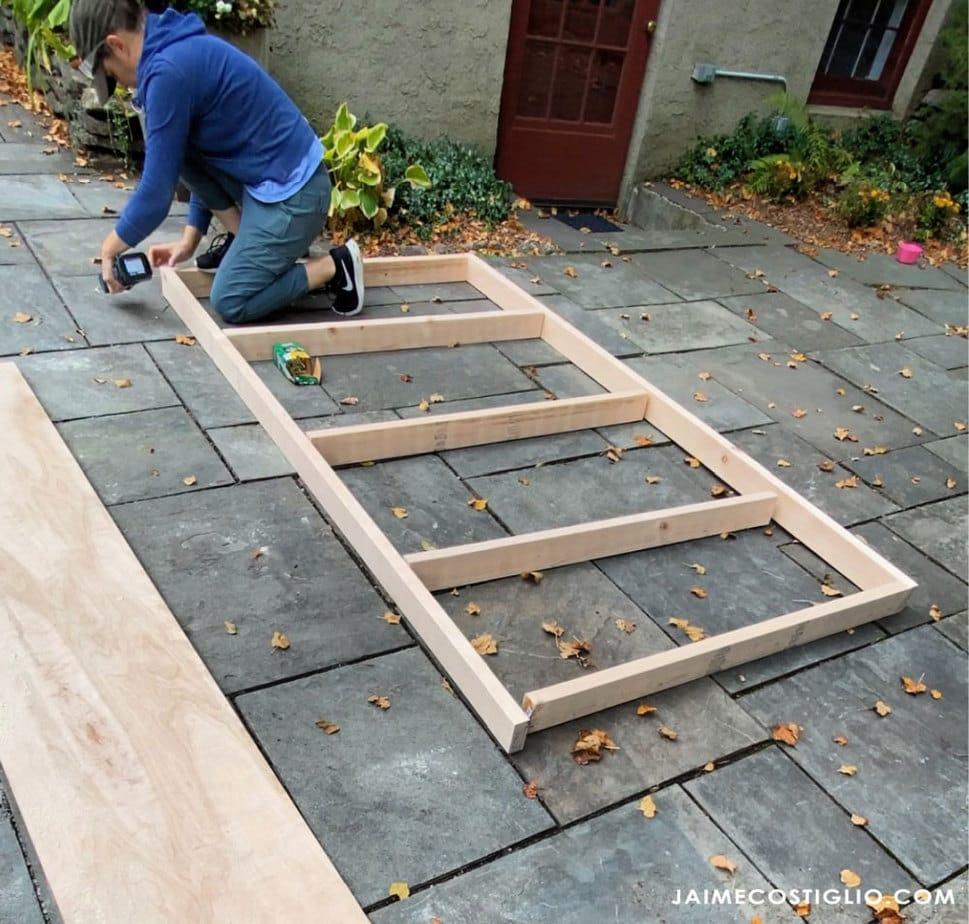 assembling exterior wall