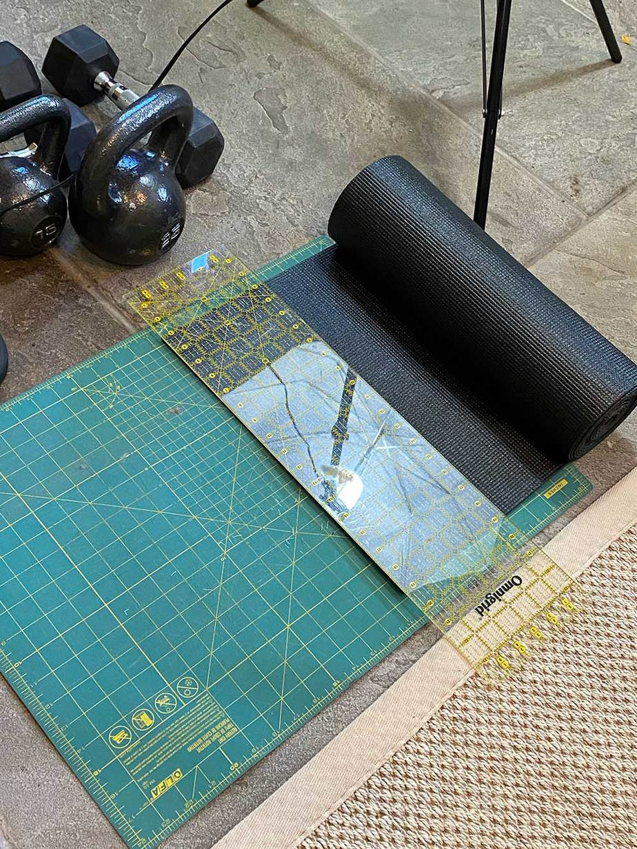 cutting shelf liner to size