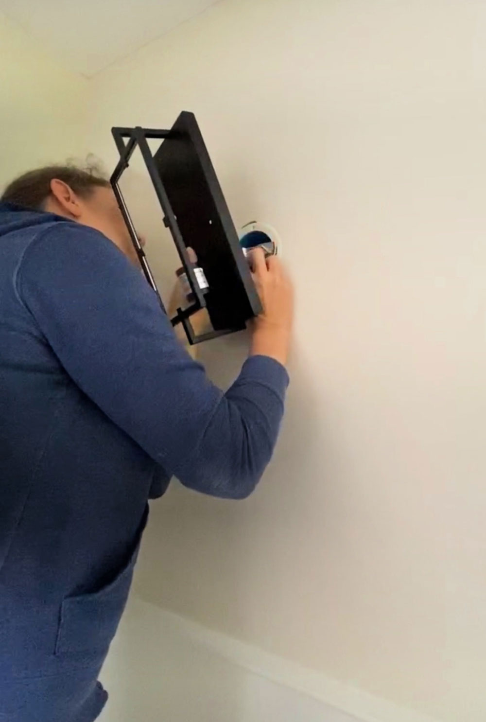 installing new wall sconce