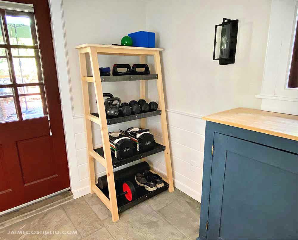 tiered storage shelf