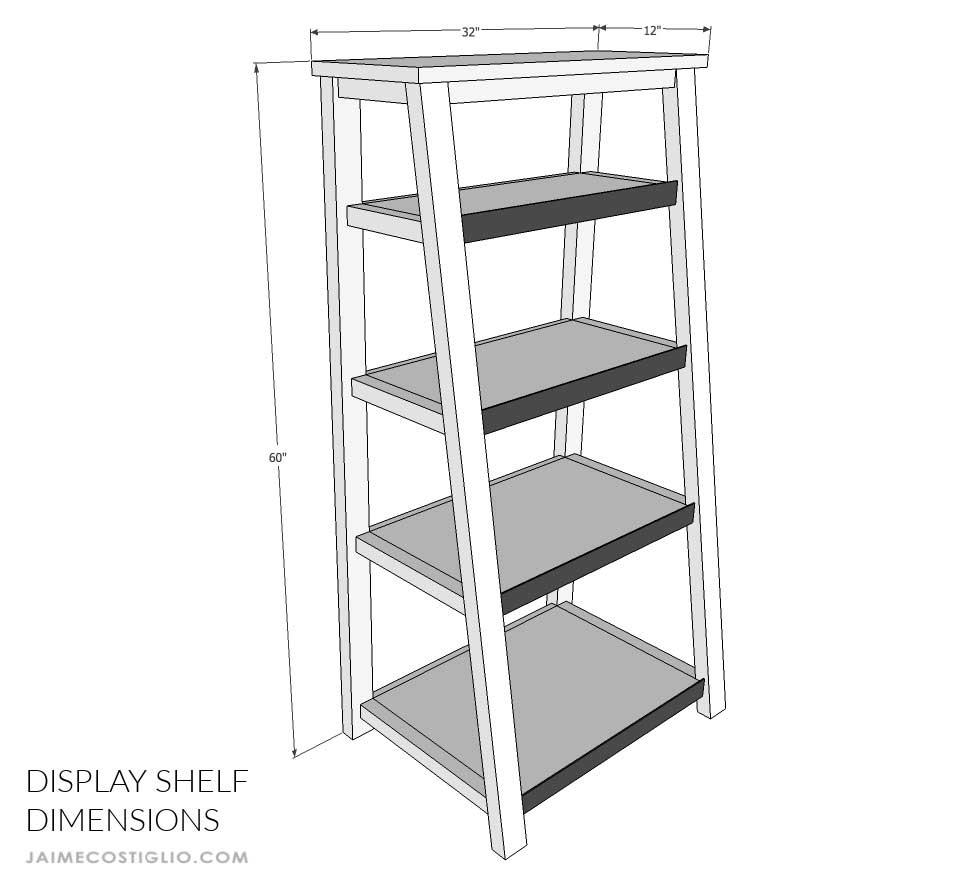 display shelf dimensions