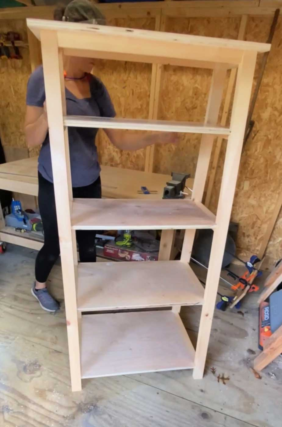building a weight storage shelf