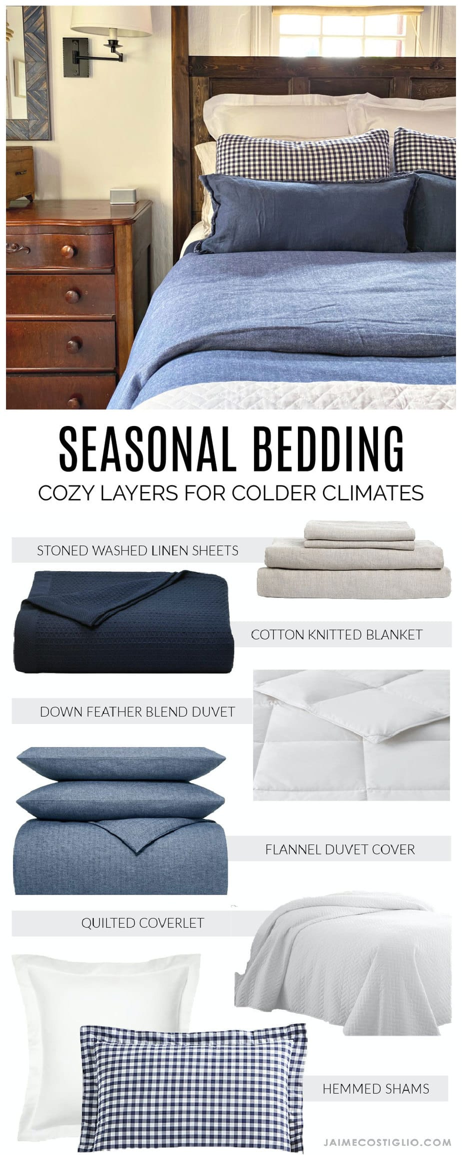seasonal bedding for colder climates