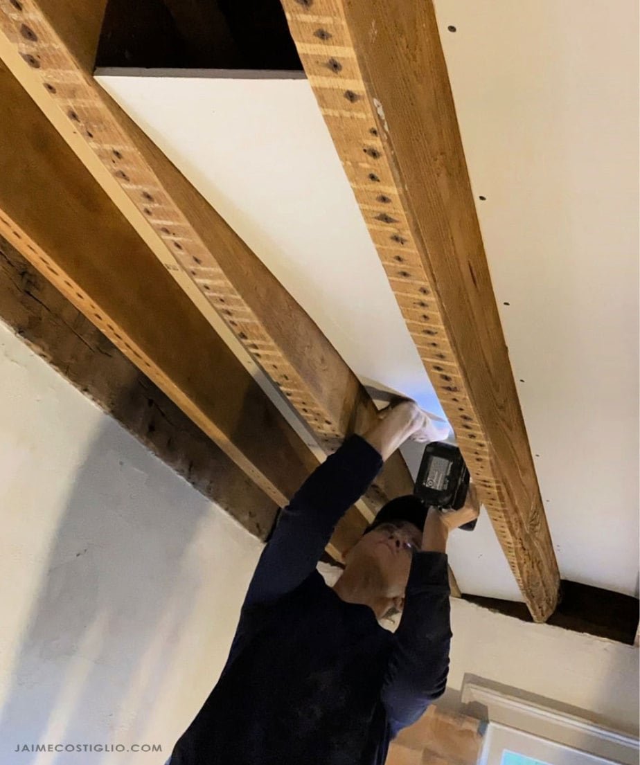 attaching sheetrock to cleats