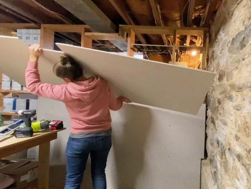 installing sheetrock to studs