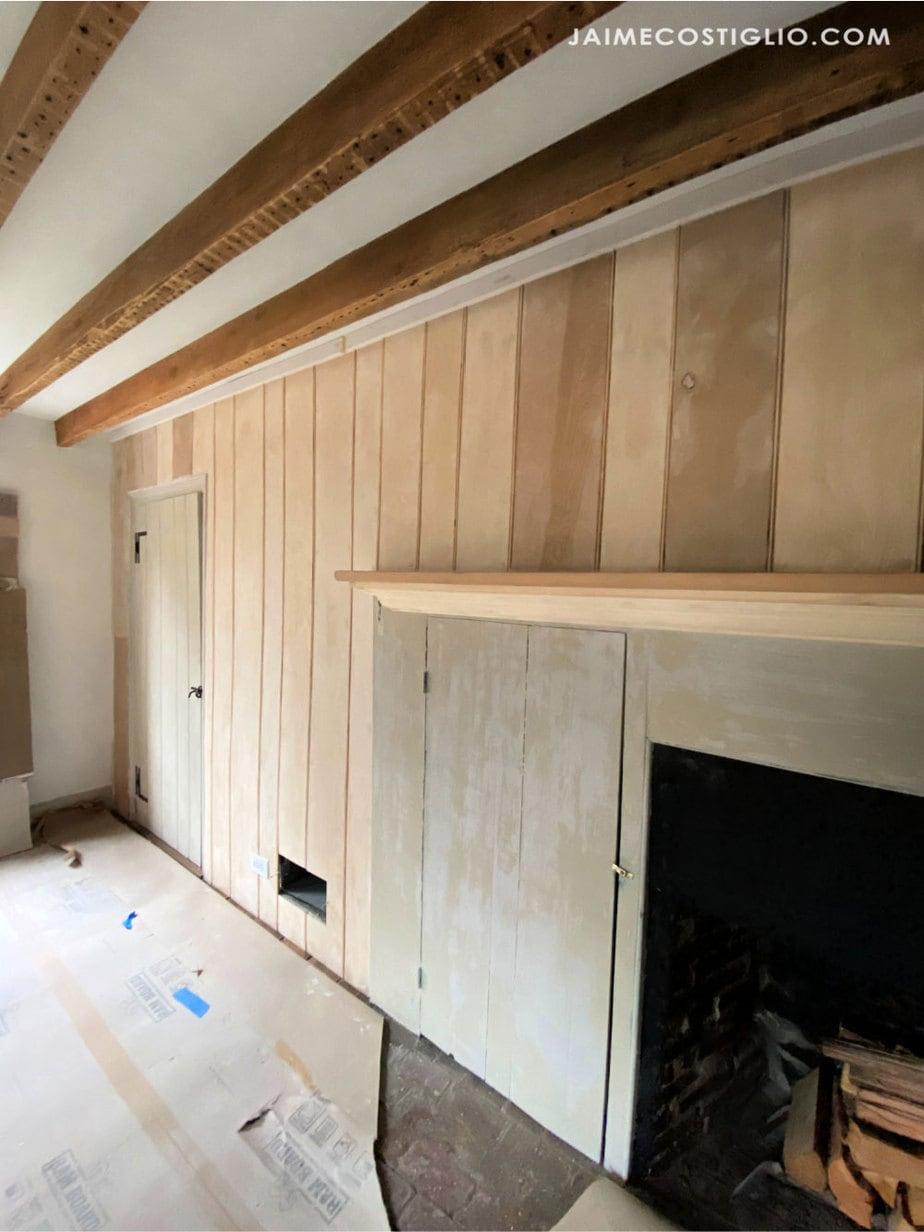 beadboard wall ready for paint