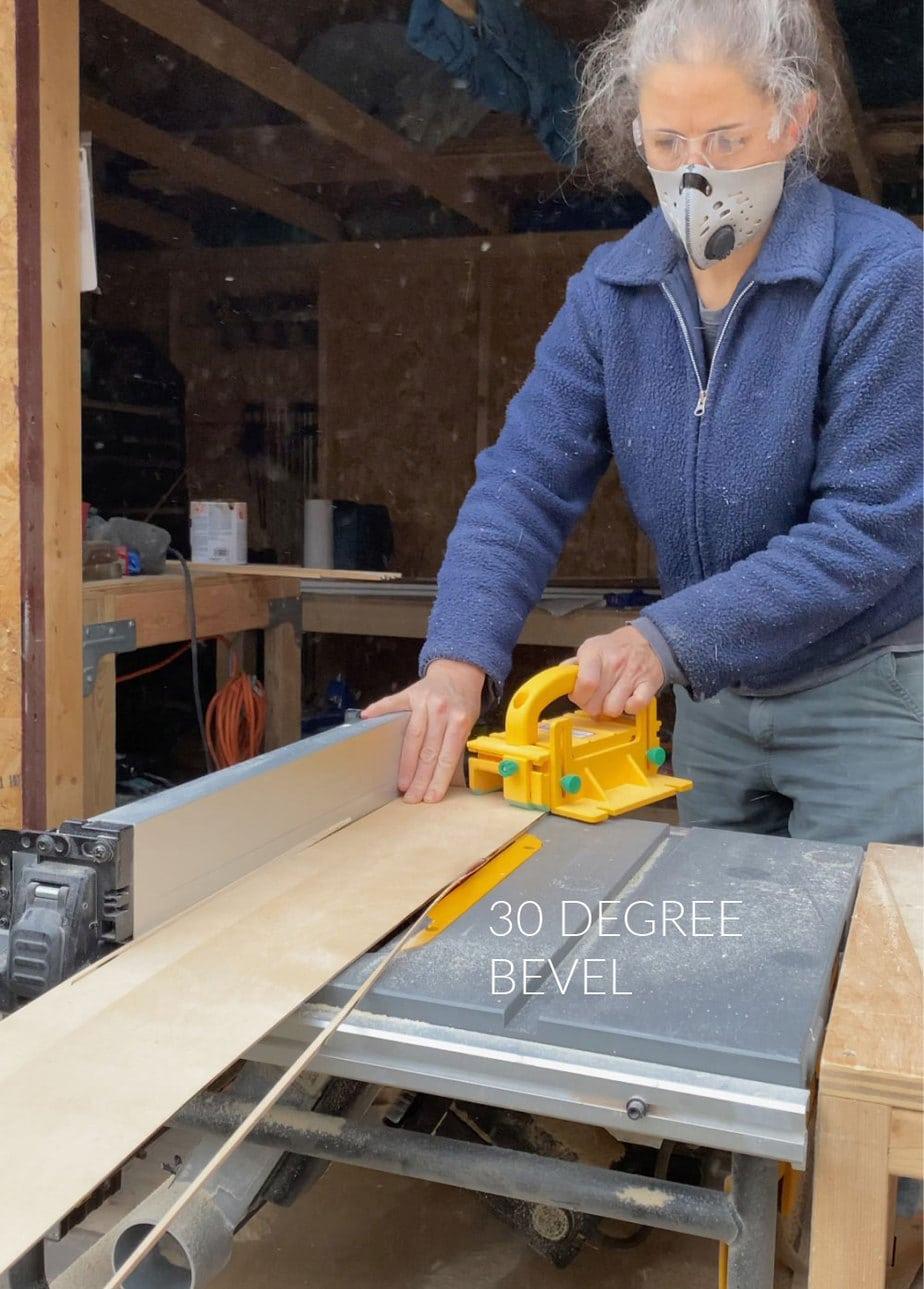 beveled edge on plywood panels