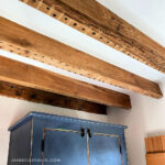 Ceiling Makeover: Exposed Wood Beams