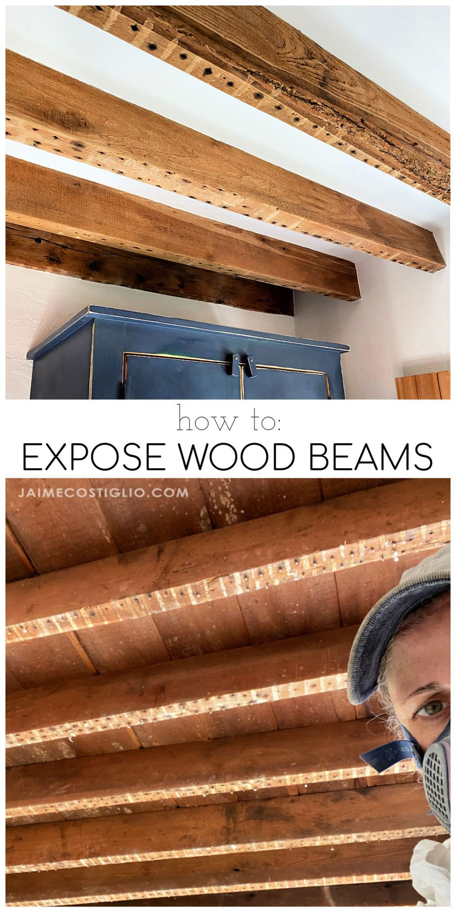 exposed wood beams how to