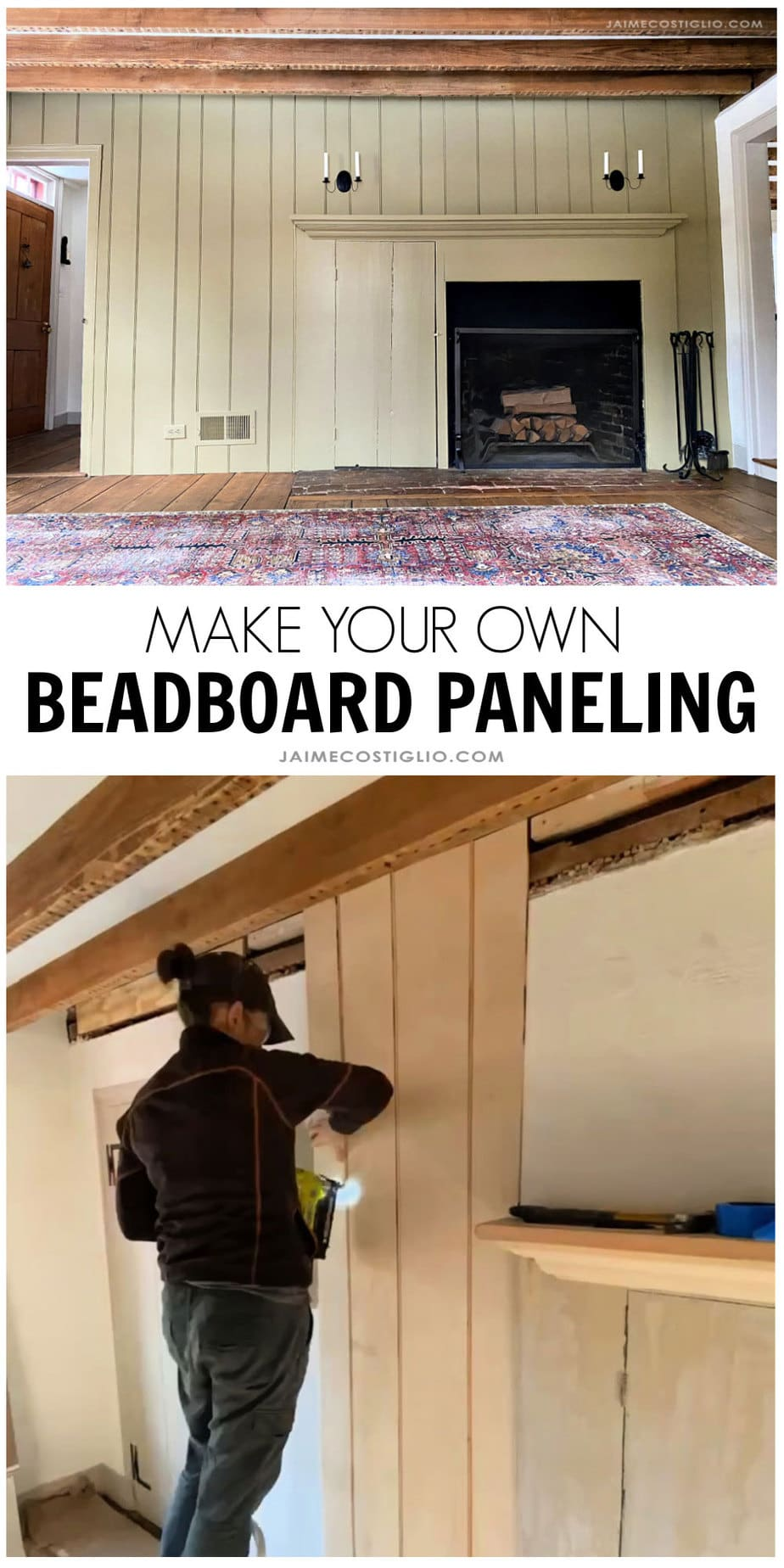 make your own beadboard paneling