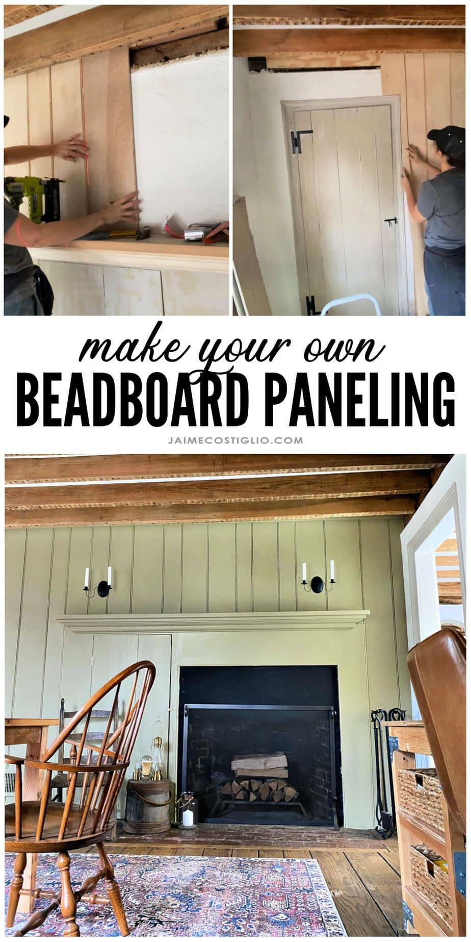 Diy beadboard wall treatment