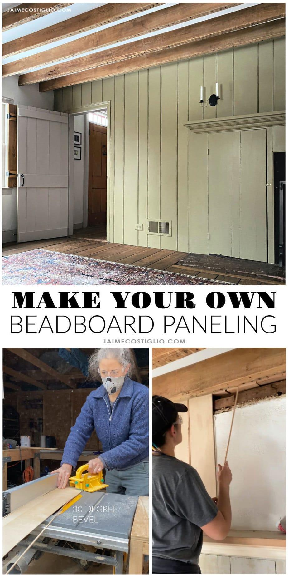 Diy beadboard paneling how to